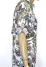 сорочка жіноча літня з квітковим принтом 100% cotton, фото 3