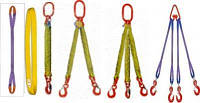 Текстильные стропы, желтая лента, ширина 90 мм, грузоподъемностью 3,0 - 6,3 тн, тип: СТК, СТП, 1СТ, 2СТ, 4СТ