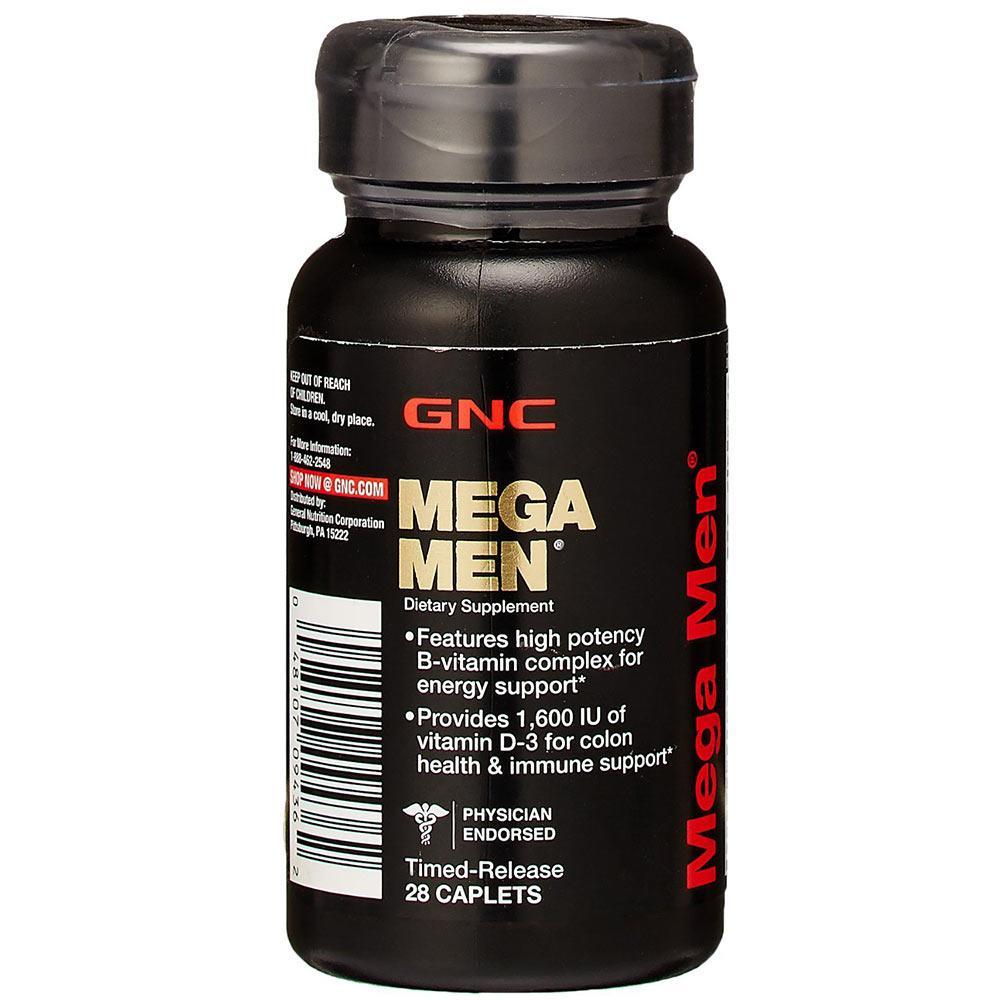 Витамины GNC Mega Men 28 caps, ЖНС Мега Мен 28 капсул