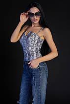 Женская блузка-топ на бретелях (Верес jd), фото 3