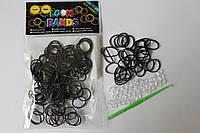 100 штук чёрных резиночек для плетения Loom Bands