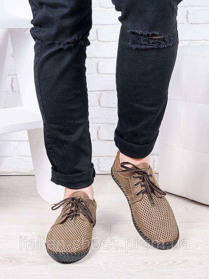 Мужские летние кожаные туфли 6945-28