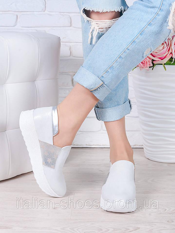 Туфли лоферы кожаные 7040-28