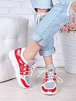 Летние кроссовки красные 7042-28, фото 1