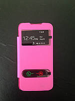 Flip Cover for Lenovo A390 pink
