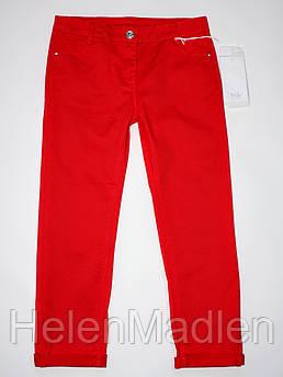 Джинсы брюки детские девочке Y-Clu красные Италия 122 см