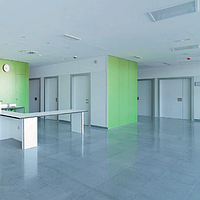 Медичні двері  HPL розпашні з фенольною кромкою art.1GPH Soleco (940х2140)