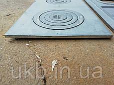 Плита чугунная усиленная 710*410 мм  ДВУХКОМФОРОЧНАЯ (толстая 26кг), фото 2
