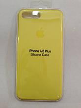 Чехол iPhone 7/8 Plus Silicone Case New Yellow