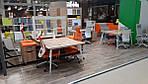 Рабочая станция+USB Delta DL-109 (3580х2400х750мм) Блэквуд Ячменный/Каркас белый/Опора белый беж, фото 6