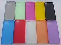 Тонкие пластиковые чехлы iphone 5/5s(желтый, розовый,оранжевый)