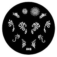 Диск для стемпинга серии A  №46