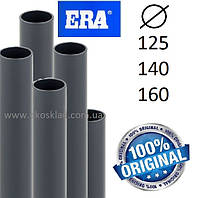 Труба ПВХ клеевая напорная ERA диаметр 140 мм pn10 PVC u pipe для бассейна, водопровода, скважин и полива
