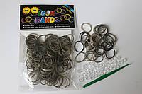 100 штук серебряных резиночек для плетения Loom Bands