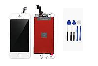 Дисплейный модуль (дисплей + сенсор) iPhone 5s/SE (белый) + набор для замены модуля