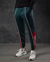 Легкие спортивные штаны мужские темно-зеленые от бренда ТУР модель Крид (Creed) размер XS, S, M, L, XL