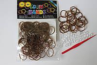 100 штук золотых резиночек для плетения Loom Bands