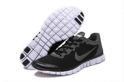 3142e8cc Мужские кроссовки Nike Free Run 3.0 черно-серые - SHOES-INTIME в Харькове