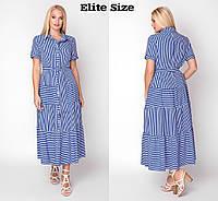 499e6faecc1 (от 48 до 56 размера) Летнее платье-рубашка в больших размерах с коротким