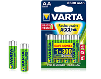 4шт аккумулятор VARTA 2600mAh AA Ready 2 Use ACCU
