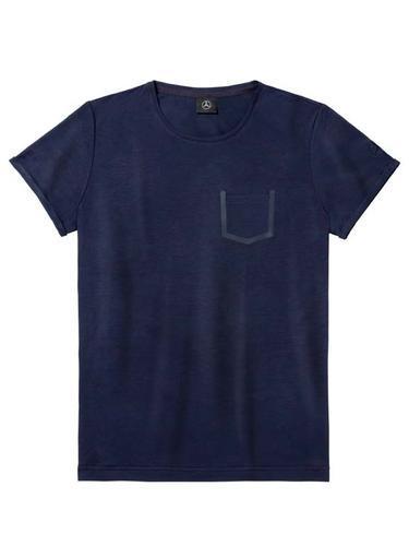 Чоловіча футболка Mercedes Men's T-shirt, Navy with Dark Red Contrasts (B66958586)