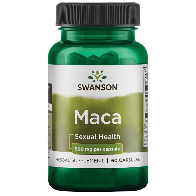 Мака перуанская ПОТЕНЦИЯ+ Maca 500 mg, 60 капс Lepidium США