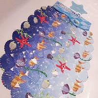 Массажный коврик в ванну. Противоскользящий коврик для ванной морское дно