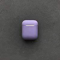 Силиконовый чехол Slim для наушников Apple AirPods фиалка light purple