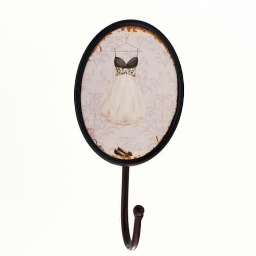 Вешалка-крючок «Белое платье», 19 см, метал