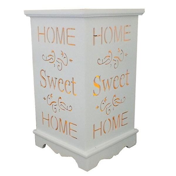 """Деревянный подсвечник """"Home. Sweet home"""", LED свеча, белый"""