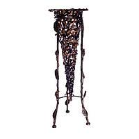 Стойка для зонтов, металл/плетенный пластик, коричневый