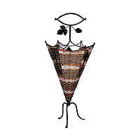 Стойка для зонтов, металл, плетение, светло-коричневый