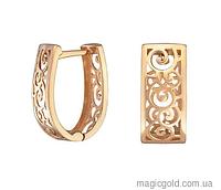 Золотые серьги Ажурная роскошь