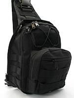 Рюкзак тактический однолямочный Черный
