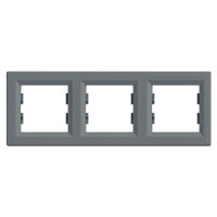 Рамка 3 -пост. горизонт. Asfora Plus EPH5800362 Сталь