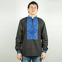 Чорна сорочка вишиванка, фото 1