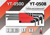 Набор длинных шестигранников 1,5-10мм, 9шт, YATO YT-0501