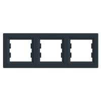 Рамка 3 -пост. горизонт. Asfora Plus EPH5800371 Антрацит