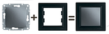Рамка 3 -пост. горизонт. Asfora Plus EPH5800371 Антрацит, фото 2