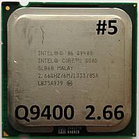 Процессор  ЛОТ #5 Intel® Core™2 Quad Q9400 R0 SLB6B 2.66GHz 6M Cache 1333 MHz FSB Soket 775 Б/У, фото 1