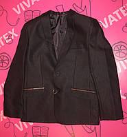 Пиджак для мальчика черный рубчик