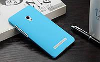 Чехол накладка бампер для Asus Zenfone 6 голубой, фото 1