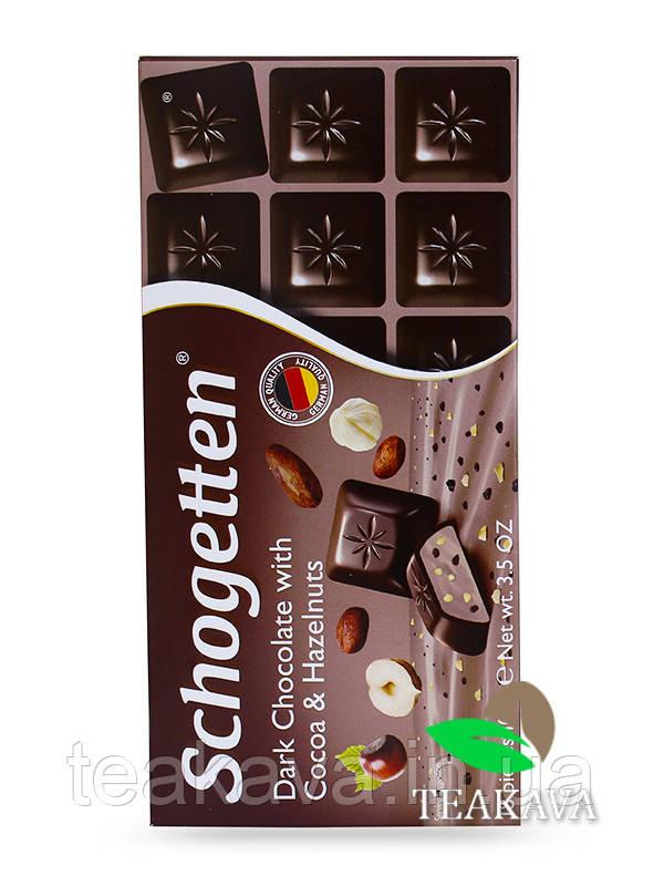 Шоколад Schogetten Dark Chocolate with Cocoa & Hazelnuts