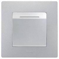 Выключатель с ключ-карточкой, алюминий Legrand ETIKA (672493), фото 1