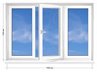 Окно металлопластиковое Rehau Euro-60, 16-ти этажка 1800х1450