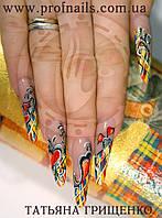 Обучение наращивание ногтей