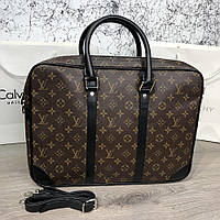 cccd2c8c6937 Сумка, деловой портфель Louis Vuitton Porte-Dociments Voyage PM Monogram  Macassar для документов коричневый