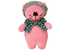 Іграшка ручної роботи Handmade котик, рожевий