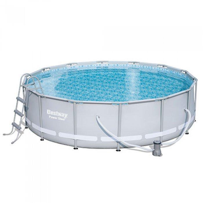 Круглый каркасный бассейн Bestway + фильтр-насос 220V (2006 л/ч) (427х107 см.) (56641)