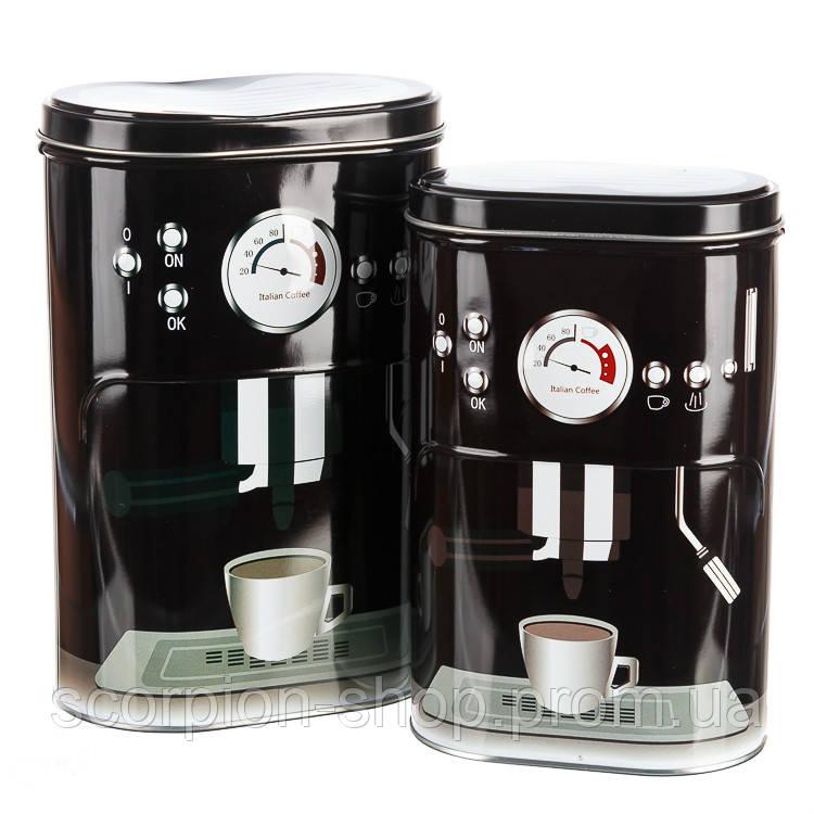 """Набор для чая и кофе """"Сладкая парочка"""" (black) (084JH) жесть"""